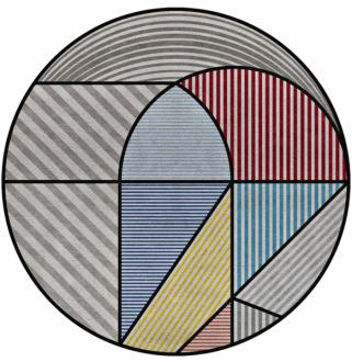 Ručně tkaný koberec Lola (Rug´Society), novozélandská vlna a len, O 300, 430 a 500 cm, cena na dotaz,