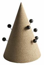 Stylový způsob ukládání kancelářských a jiných magnetických předmětů Cork Cone (Hay), design Daniel Emma, korek, cena 678 Kč, WWW.STOCKIST.CZ