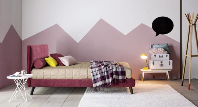 Jednolůžková postel Dread (Twils), kovová základna, látkové čalounění, cena na dotaz, WWW.TWILS.IT
