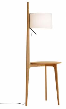 Carla (Carpyen), design Gabriel Teixido, součástí dřevěné konstrukce je odkládací stolek s plochou o průměru 60 cm, výška 145 cm, cena 27 160 Kč, WWW. QUESTODESIGN. COM
