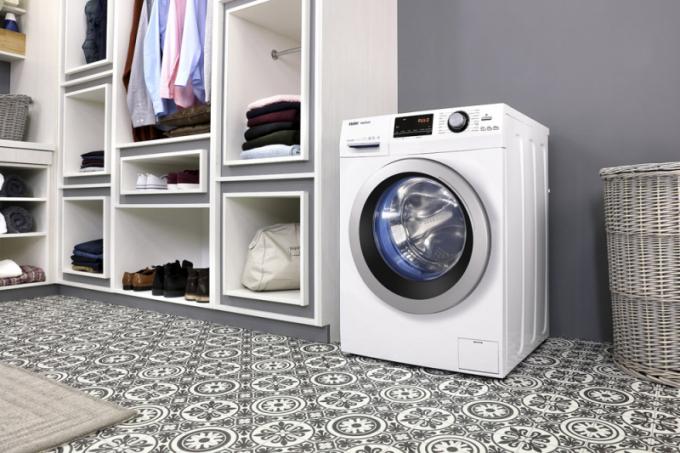 Pračka HW70 BP14636 (Haier), kapacita 7 kg prádla, hloubka 46 cm, cena 9 690 Kč, WWW. FASTCR. CZ