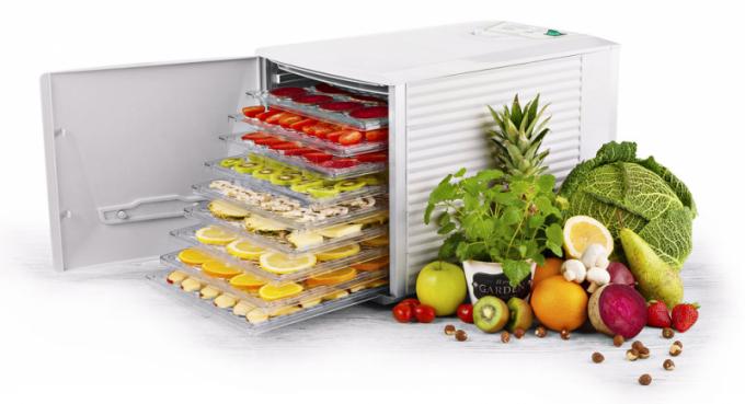 Sušička potravin Vital Air 0302 90000 (ETA), technologie Air Flow pro rovnoměrné sušení, 9 sušicích sítí, cena 6 999 Kč, WWW. ETA. CZ