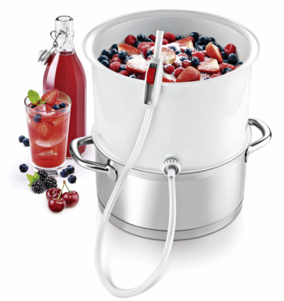 Souprava pro odšťavňování ovoce a zeleniny Della Casa (Tescoma), jednoduchá obsluha, skladnost, cena 699 Kč, WWW. TESCOMA. CZ