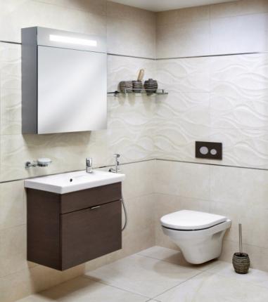 Řešení malé koupelny, galerie s úložným prostorem, úzká umyvadlová skříňka, bidetová sprška, skládací sprchový kout, cena dle realizace, WWW. SIKO. CZ
