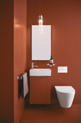 Koupelnová skříňka pod umyvadlo (Kartell by Laufen), vhodná nejenom do malých prostor, cena na dotaz, WWW. LAUFEN. CZ