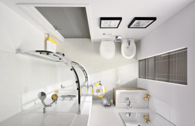 Řešení pro malé koupelny, odlehčené materiály, světlé barvy, sofistikované systémy, cena produktů na dotaz, WWW. IDEALSTANDARD. COM