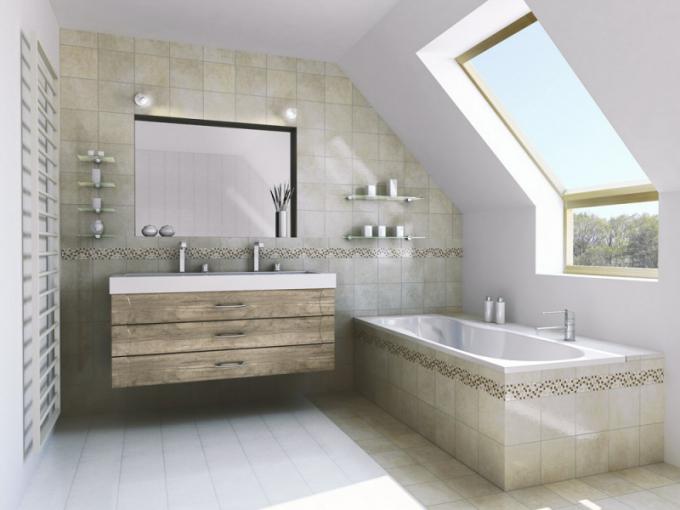 Koupelnové zásuvky (T.classic), fóliovaný dekor dub pískový, snadná údržba, odolnost proti vlhkosti, cena od 2 425 Kč /m2, WWW. TRACHEA. CZ