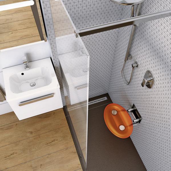 Walk-in sprchový kout pro osoby s omezenou pohyblivostí, zcela bezbariérový, odtokový žlab, výběr z více modelů, cena na dotaz, WWW. RAVAK. CZ
