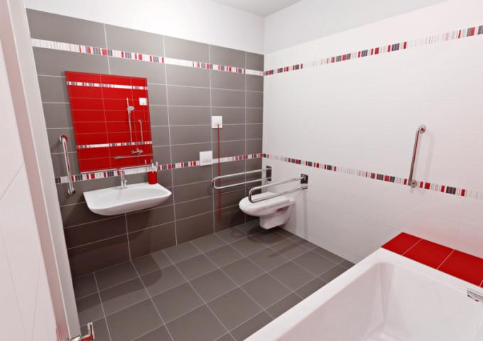 Bezbariérová koupelna, dostatek prostoru, lze umístit jak vanu, tak sprchový kout, nezbytné bezpečnostní prvky, cena dle realizace, více na WWW. SIKO. CZ