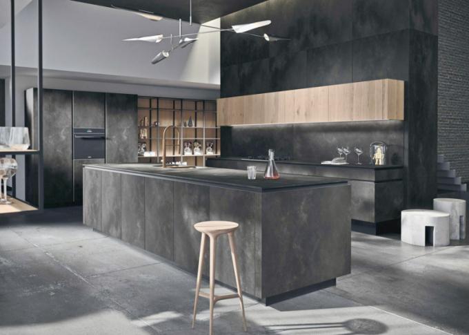Kuchyňský koncept Way Materia (Snaidero), dřevo, keramika, kámen, moduly dle dispozice na míru, cena na dotaz, WWW. SNAIDERO. COM