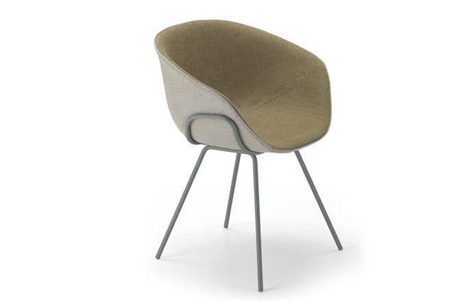 Kolekce Iko (Alias) je charakteristická kombinací hladké, jemně zakřivené plastové skořepiny s trubkovou konstrukcí. Židle jsou dostupné také v provedení bez čalounění v mnoha barevných variantách, s koženým čalouněním, podnoží ze dřeva i s kolečky. Elegantní návrh Patricka Norgueta odráží styl 50. let, a přitom dokonale reaguje na momentální trendy. Rozměry 52 × 79 × 53 cm, cena od 10 620 Kč, www.lino.cz
