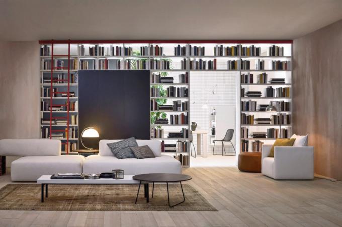 Obývací stěna Slim (Novamobili), dřevo a lak, rozměr dle dispozice, cena na dotaz, WWW. CASAMODERNA. CZ