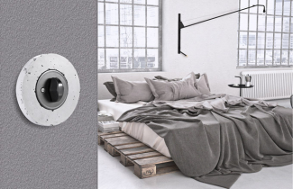 Vypínač Retro (Obzor) s pórovitým rámečkem, beton, černá krytka a BTA klička, cena od 1 505 Kč, WWW. RETROVYPINAC. CZ
