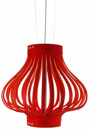 Závěsné svítidlo BuzziLight Mono (Buzzispace), design Sas Adriaenssens, plsť a kov, O 65 a 95 cm, cena na dotaz, WWW.CRE8.CZ