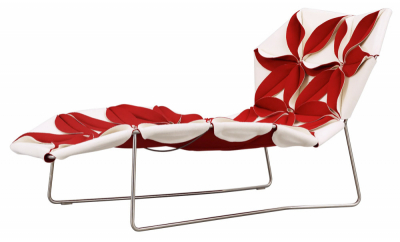 Chaise longue Antibody (Moroso), design Patricia Urquiola, 90 × 157 × 77 cm, cena od 121 629 Kč, WWW. KONSEPTI.COM
