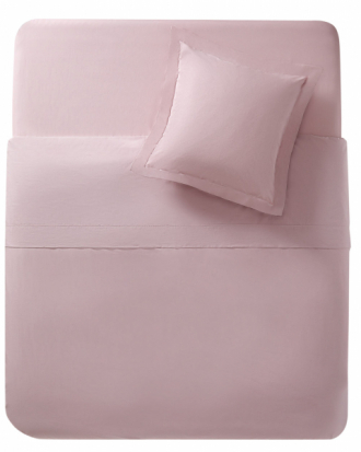 Povlečení v odstínu starorůžové (Zara), bavlněný perkál, cena povlaku na přikrývku (135 × 200 cm) 999 Kč, cena povlaku na polštář (70 × 90 cm) 549 Kč, WWW.ZARAHOME.COM/CZ
