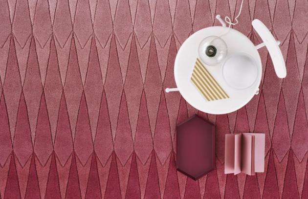 Designový kusový koberec Acacia Pink (Linie Design), 100% vlna, rozměr 170 × 240 cm, cena 12 766 Kč, WWW.AMBER-INTERIER.CZ