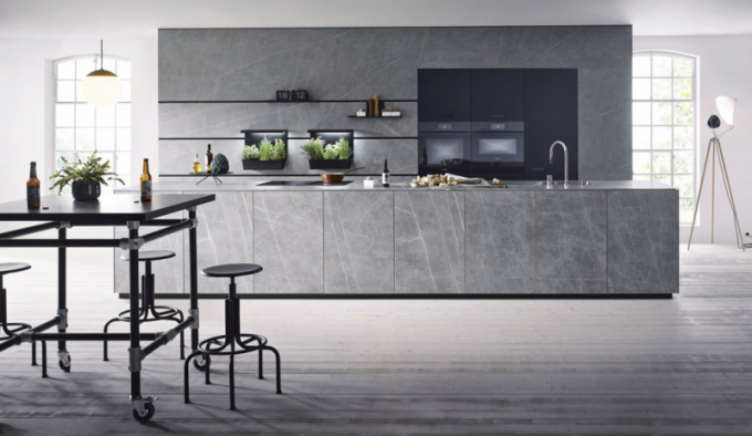 Kuchyňský koncept NX 950 (Next 125), keramický povrch v odstínu grafit, cena dle kompozice, WWW. SCHUELLER. DE