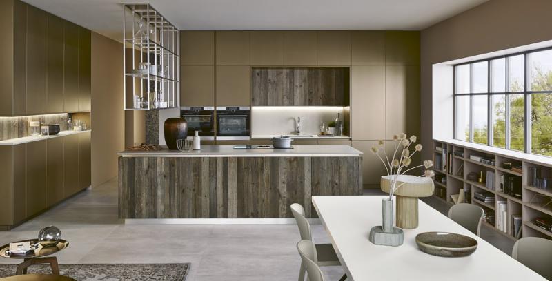 Kuchyňský koncept Lounge. GO (Veneta cucine), MDF a dřevo, cena na dotaz, WWW. VENETACUCINE. COM