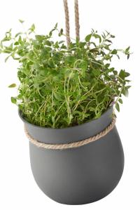 Závěsný květináč Grow it Stelton (Rig Tig), design Christian Bjorn, samozavlažovací, silikonová guma, 13 x 13 cm, cena 645 Kč, WWW. CREATIVE-HOME. CZ