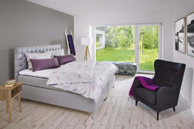 Postel Zleep comfort continental bed (Zleep), 200 x 200cm, pružiny, pěna apřírodní latex, cena od74750Kč