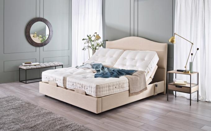 Polohovací postel Topaz (Vispring), 180 x 200cm, pružiny, koňské žíně, britská vlna abavlna, cena nadotaz