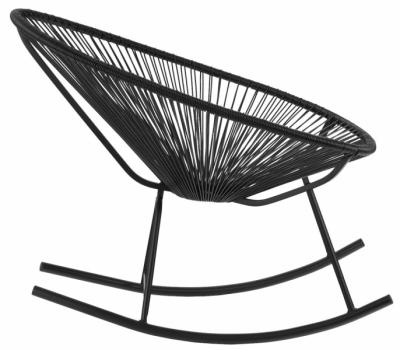 Houpací křeslo Acapulco Rocking Chair, mexický design neznámého autora z50. let, lakovaná ocel apolyetylen, 70 × 78 × 88cm, orientační cena 5155Kč,  www.sklum.com