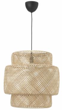 Závěsná lampa Sinnerlig (IKEA), bambusové vlákno, ruční výroba, cena 1490Kč, www.ikea.cz