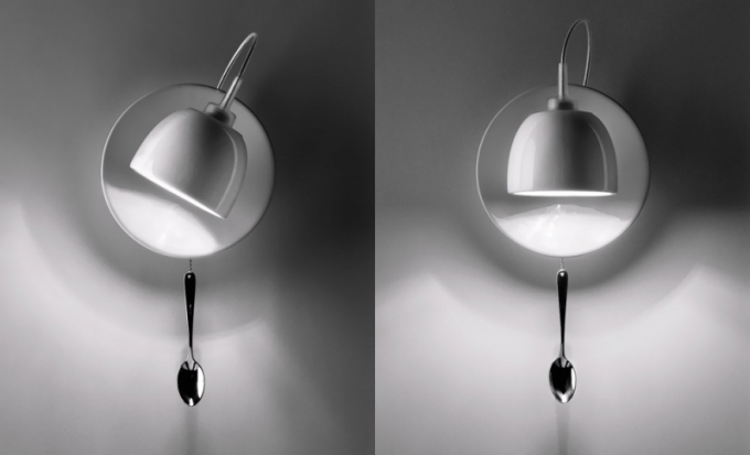 Light-au-lait (Ingo Maurer), materiál plast, chromovaná ocel, cena 246 £, www.madeindesign.co.uk