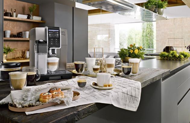 Kávovar Dinamica Plus ECAM370.95.T (De'Longhi), One Touch, dvojité spařování, LatteCrema System, cena 24989Kč, www.electroworld.cz