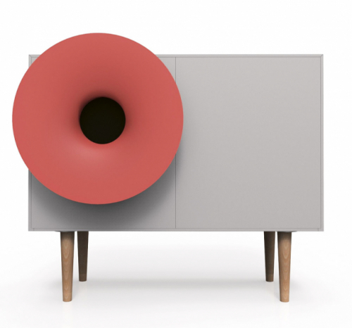 Caruso (Miniforms), komoda svestavěným hi-fi systémem, připojením bluetooth areproduktorem, MDF, 87 x 54 x 85cm, cena 81820Kč, www.cskarlin.cz