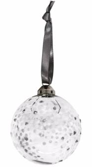 Stříbrná koule Lumi,  Ø 6cm, cena 125Kč