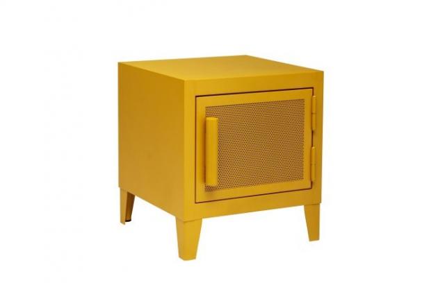 Malý úložný prostor B1 H45 (Tolix) lze použít jako noční stolek, skvěle poslouží také v pracovně nebo dětském pokoji. Industriální vzezření kovové skříňky podporuje perforovaná výplň dvířek, rozmanité barevné odstíny výsledný dojem naopak zjemňují. Materiál: hliník, rozměry 45 × 40 × 40 cm, cena 11 160 Kč, WWW.LINO.CZ