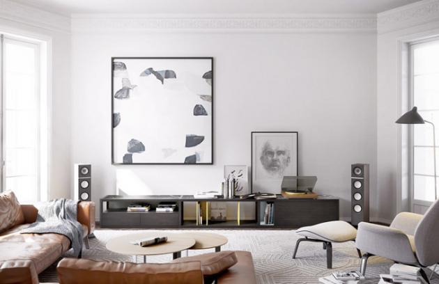 Velikost díla je vhodné přizpůsobit prostoru tak, aby dostatečně vyniklo azároveň místnost nezahltilo. Především urozměrných obrazů je potřeba brát vúvahu také barevnost vzhledem kzařízení