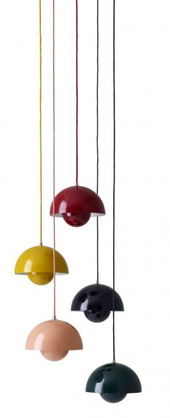 FlowerPot (Tradition), design Verner Panton, lakovaná ocel, závěsné svítidlo 7550Kč, stolní lampa 8131Kč,  www.designville.cz