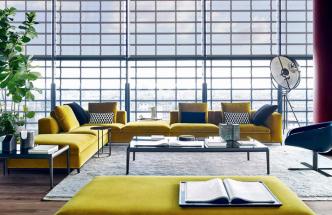 Pohovka Michel Club (B&B Italia), design Antonio Citterio,látkové čalounění, cena od210000Kč, www.konsepti.com