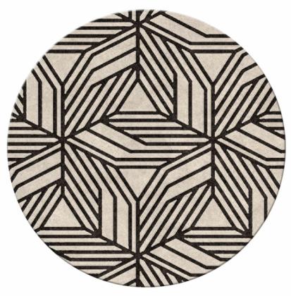 Dekorativní koberec Cauca (Brabbu), 100% střižná vlna, Ø 80cm, cena cca 3890Kč, WWW.BRABBU.COM