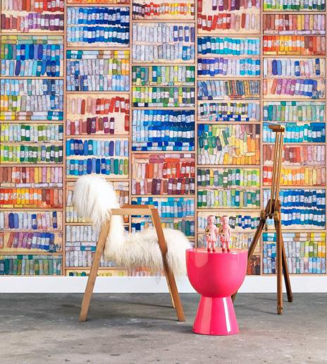 Dekorativní tapeta Coloured Chalk (NLXL Lab), design Mr & Mrs Vintage, role 10m, šířka 48,7cm, cena cca 4375Kč, WWW.JANERICHARDSINTERIORS.COM