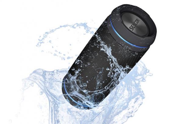 Reproduktor Sirius SSS 6400N (Sencor), přenosný, 30 W, NFC, funkce TWS, Bluetooth Audio 4.2, vodotěsný IPX6, dosah až 15m, funkce handsfree, cena od1 535Kč