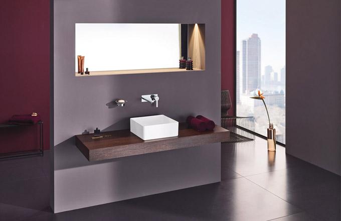 Elegantní baterie Grohe v minimalistickém designu je ideálním doplňkem každé moderní koupelny. Více na www.grohe.cz
