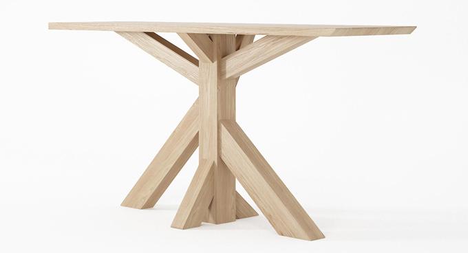 Jídelní stůl Ki (Karpenter) má potenciál stát se tím nejpevnějším středobodem vašeho rodinného vesmíru. Jméno zdědil po japonském výrazu pro strom, který je se svým silným kmenem a z něj vystupujícími větvemi také jeho předobrazem. Masivní konstrukce a deska z evropského bílého dubu je ošetřena pouze přírodními přípravky na bázi vody. Design Hugues Revuelta, rozměry: 180 × 90 × 75 cm, cena od 34 000 Kč, WWW.KARPENTER.COM