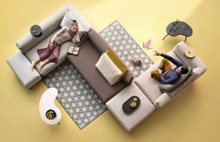 Poutavá interpretace obývacích pokojů zítřka