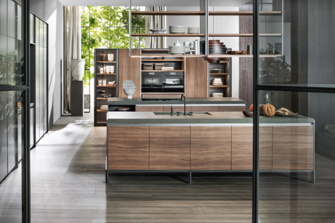 Kuchyňský koncept VVD (Dada MolteniC), design Vincent Van Duysen, kov, dřevo, kámen asklo, LED osvícení, cena nadotaz, WWW.DADA-KITCHENS.COM