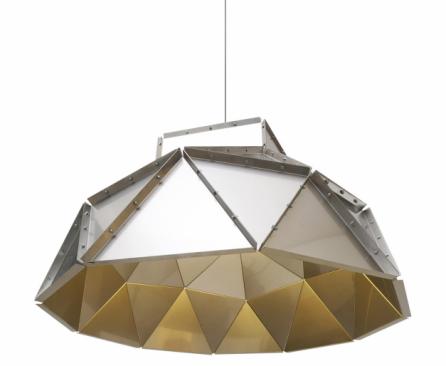 Apollo (Dark), design Romy Kühne, lakovaný hliník nebo nerezová ocel, Ø 106cm, cena od 79 715 Kč,  www.bulb.cz