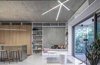 Loftové bydlení s příměsí betonu