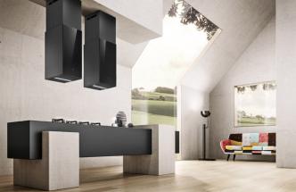 Odsavač par Haiku Island BL/A/32 (Elica), design Fabrizio Crisa, dekorativní panel ztvrzeného hliníku, povrchová úprava litina, výkon 720 m3/h, 53 dB, cena 35090Kč, www.elicacr.cz