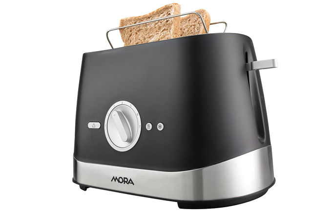Ať potřebujete chléb rozpéct, nebo rozmrazit ideální volbou je toustovač MORA TP 900 B. Intenzitu opečení si může každý nastavit dle svých preferencí