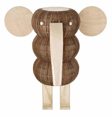 Volně stojící lampa Elephant LS (LZF), design Isidro Ferrer, masivní dřevo adýha buku, 160 × 98 ×163cm, cena nadotaz, ffshop.lzf-lamps.com