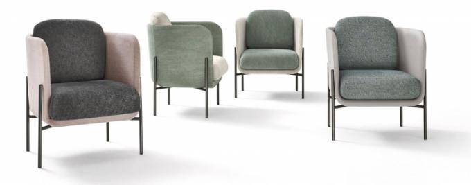 Haiku (Novamobili), design Studio Zanellato Bortotto, látkové čalounění, 88 × 70 × 70cm, cena 48719Kč, WWW.CASAMODERNA.CZ
