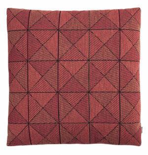 Polštář Tile Cushion (Muuto), vlněná textilie spéřovou výplní, design Anderssen &Voll, vněkolika barevných variantách, rozměr 50 × 50cm, cena 3210Kč, www.designville.cz
